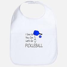 i love to play pickleball Bib