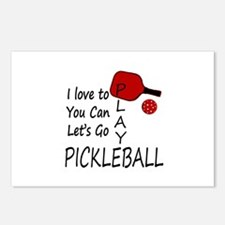 i love to play pickleball Postcards (Package of 8)