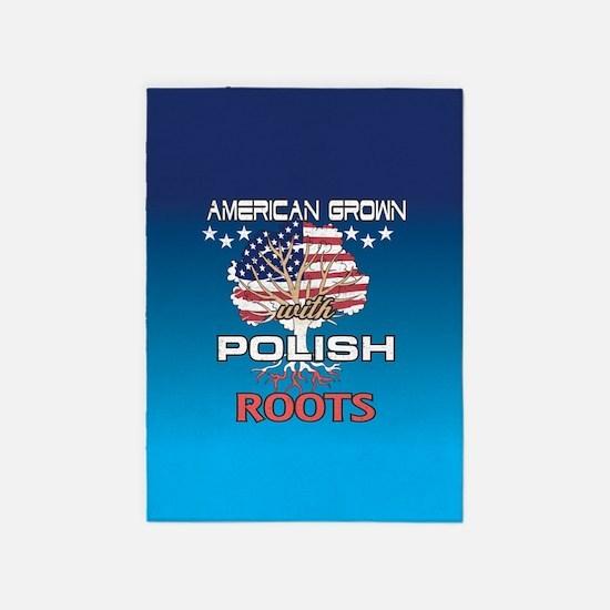 Polish American 5'x7'Area Rug