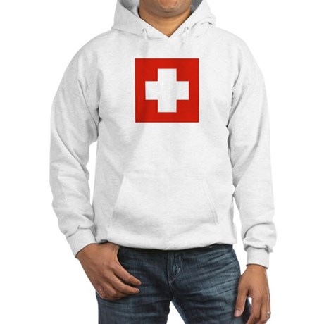 Flag of Switzerland 1 Hooded Sweatshirt