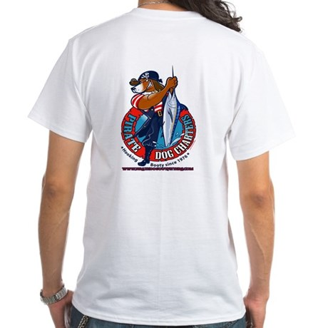 Pirate Dog Charters White T-Shirt