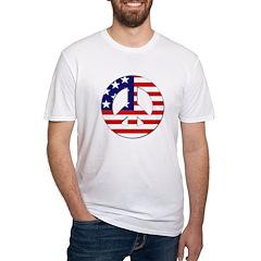 American Flag Peace Sign Shirt
