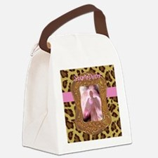 Breast Cancer Survivor Angel in L Canvas Lunch Bag