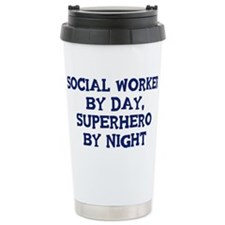 Cute Social worker by day Travel Mug