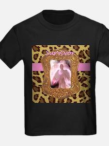 Breast Cancer Survivor Angel in Leopard T-Shirt