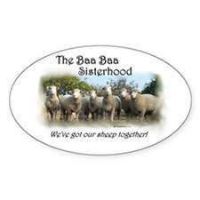 Oval Sticker~Baa Baa Sisterhood