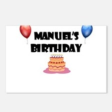 Manuel's Birthday Postcards (Package of 8)
