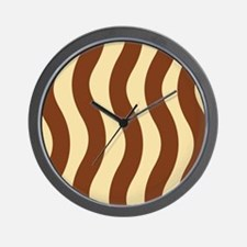 Creamy Chocolate Waves Wall Clock