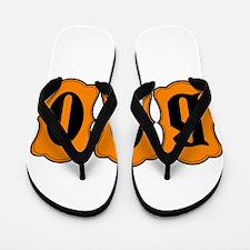 BOO Halloween Orange and Black 2 Flip Flops