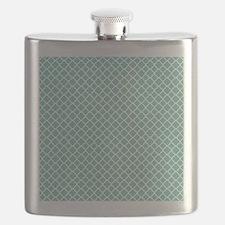 Tiffany Blue & White Moroccan Pattern Flask