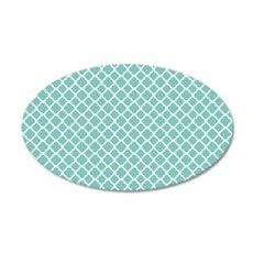 Tiffany Blue & White Morocca Wall Decal