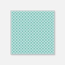 "Tiffany Blue & White Morocc Square Sticker 3"" x 3"""