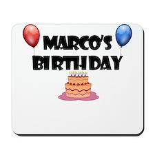 Marco's Birthday Mousepad