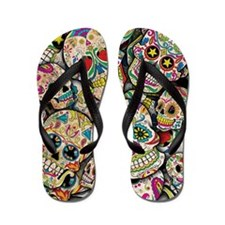 Cute Day of the dead Flip Flops