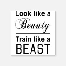 Look beauty train beast Sticker