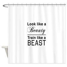 Look beauty train beast Shower Curtain