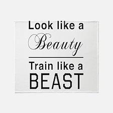 Look beauty train beast Throw Blanket