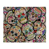 Day of the dead Fleece Blankets