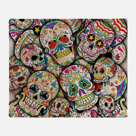 Unique Day of the dead Throw Blanket
