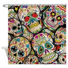 Cute Day of the dead Shower Curtain
