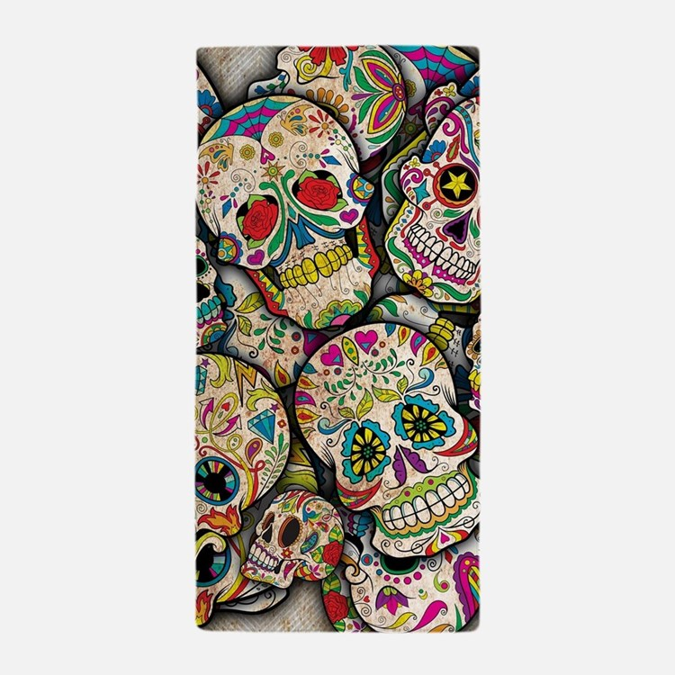 Cute Day of the dead Beach Towel