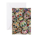 Sugar skull Greeting Cards (10 Pack)