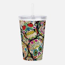 Unique Day of the dead Acrylic Double-wall Tumbler