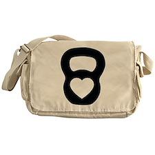 Love kettlebell Messenger Bag