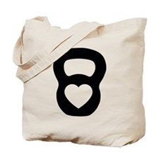 Love kettlebell Tote Bag