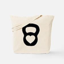 Love kettlebell Tote Bag