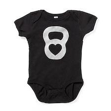 Love kettlebell Baby Bodysuit