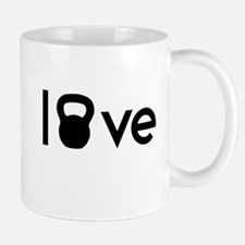 Love kettlebell 2 Mugs