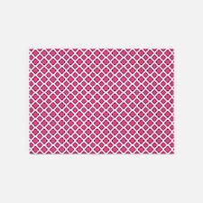Pink Moroccan Lattice 5'x7'Area Rug