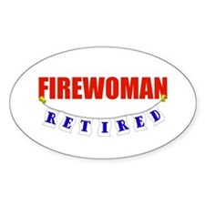 RETIRED FIREWOMAN Decal