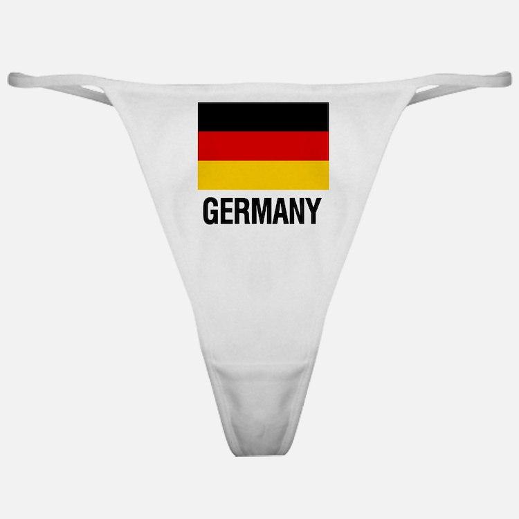 Cute German flag Classic Thong