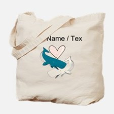 Custom Whale Love Tote Bag