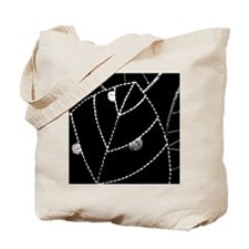 Embroidered Leaf Tote Bag