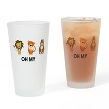 Lion tigers bears oh my Drinking Glass