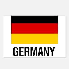 Cute German flag Postcards (Package of 8)
