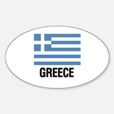 Greek Flag with Large Block Text Greece Decal