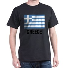 Greek Flag with Large Block Text Gre T-Shirt