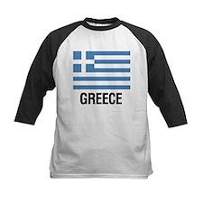 Greek Flag with Large Block Text Greece Baseball J