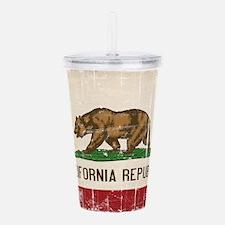 California Flag Distressed Acrylic Double-wall Tum