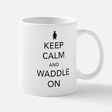 Keep calm and waddle on Mugs