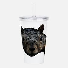 Squirrel Face Acrylic Double-wall Tumbler
