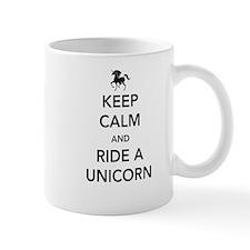 Keep calm and ride a unicorn Mugs