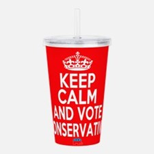 Keep Calm Conservative Acrylic Double-wall Tumbler
