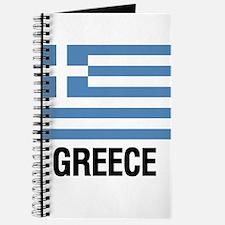 Cute Greek flag Journal
