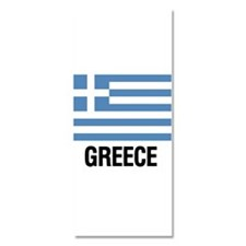 Greek Flag with Large Block Text Greece Invitation