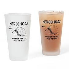 Hedgehogs hedge no Drinking Glass